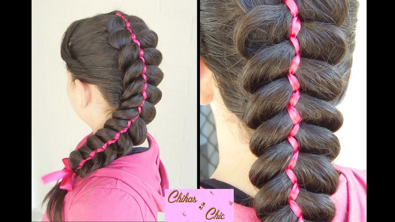 5 Hairstyles: 5 Strand Ribbon Dutch