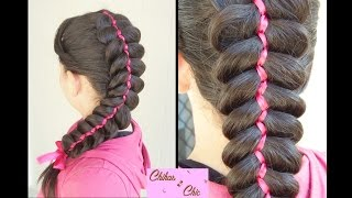 5 Strand Ribbon Dutch | Braided Hairstyles | Cute Hairstyles