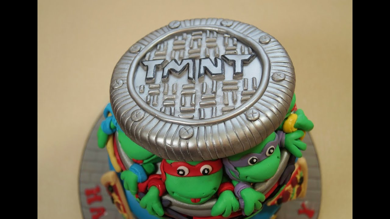 Teenage Mutant Ninja Turtles Sewer Lid For A Cake How To