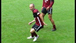 リージョ新体制後のイニエスタ(Iniesta)選手が参加の鳥かご ヴィッセル神戸・公開練習より