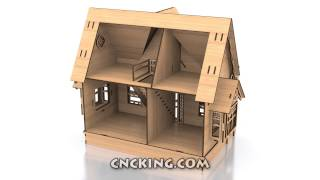 Cncking.com: Mini Dollhouse 3d Assembly Animation