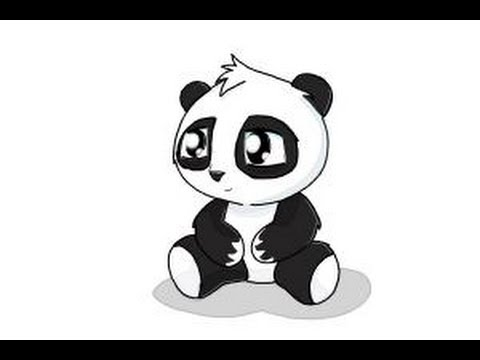How to draw a cute panda youtube