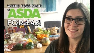 Asda Food Shopping Haul & Meal Plan | Weekly Shop On A Budget | Family Of 4 Grocery Shop