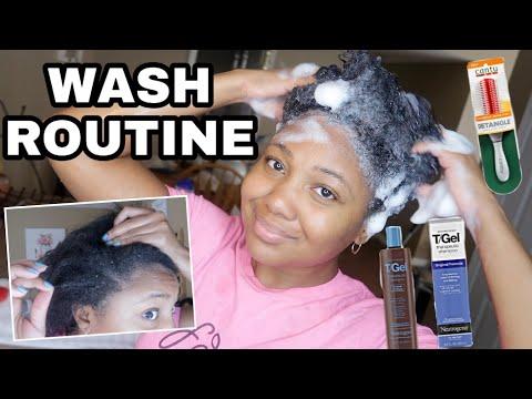 Natural Hair WASH DAY ROUTINE 》   Neutrogena T/Gel Shampoo