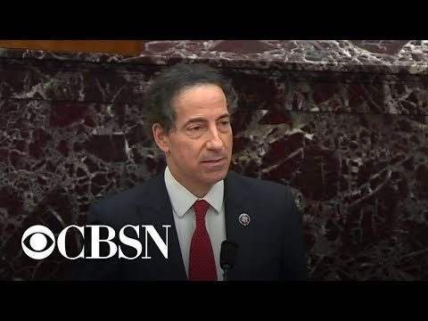 Raskin makes emotional appeal to Senate on Day 1 of impeachment trial