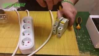 видео Как подключить автомат в щитке