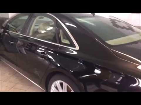 Результат после нанесения жидкого стекла на Audi