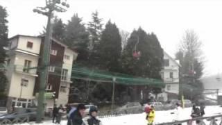 Gambarie, nevica dalle prime ore del mattino