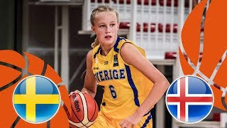 Sweden v Iceland - Full Game - FIBA U16 Women's European Championship Division B 2018 thumbnail