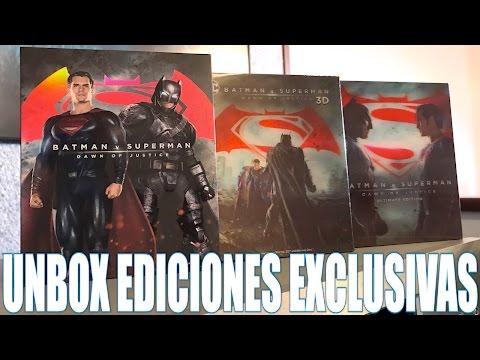 UNBOXING EDICIONES EXCLUSIVAS BLU-RAY DE BATMAN V SUPERMAN