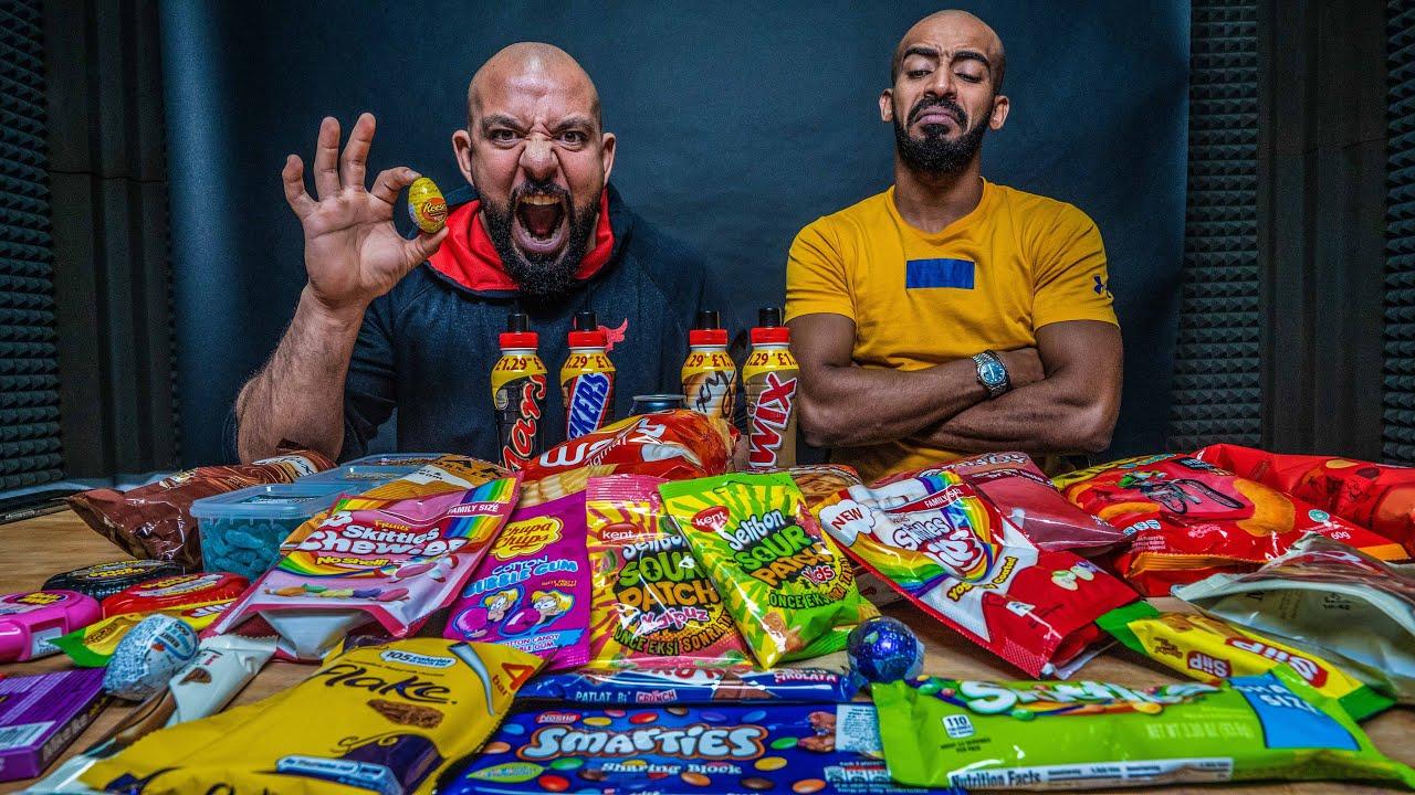 تحدي ١٢،٠٠٠ سعرة من الحلويات المستوردة