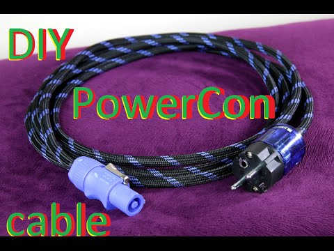 How To Make High Quality Powercon To Iec Power Cable Diy6