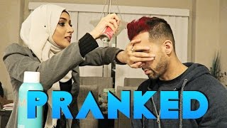 SHE TURNED MY HAIR RED (PRANK)