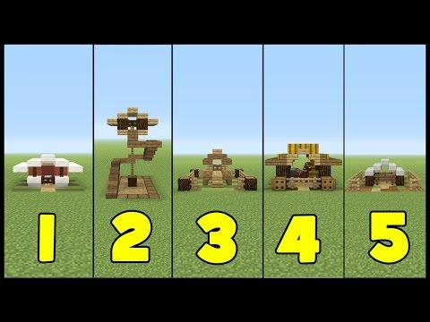 Minecraft Tutorial: 5 Animal Houses