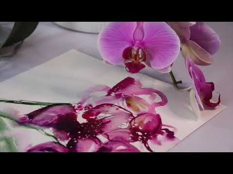 ORCHID FLOWER PAINTING