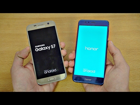Samsung Galaxy S7 OFFICIAL Android 7.0 Nougat vs Huawei Honor 8 - Speed Test!
