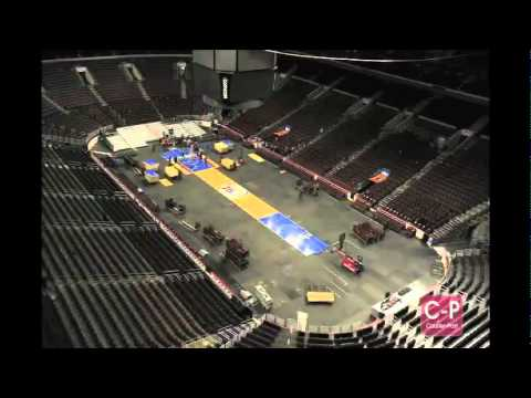 Wells Fargo Center Hockey to Basketball timelapse
