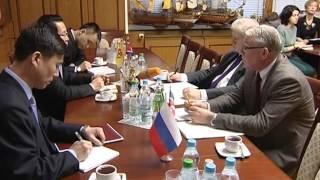 Сергей Миронов принял делегацию Посольства КНДР в РФ, ГД РФ 24 декабря 2015