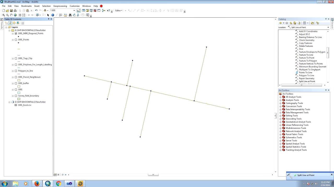ArcGIS 10 2 - Split Line at Points / Vertices