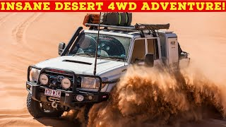 NO TRACK, NO MAP - Insane Desert 4WD Adventure! Tough 4x4s + 6x6 Chopped 200 Series forge new track!