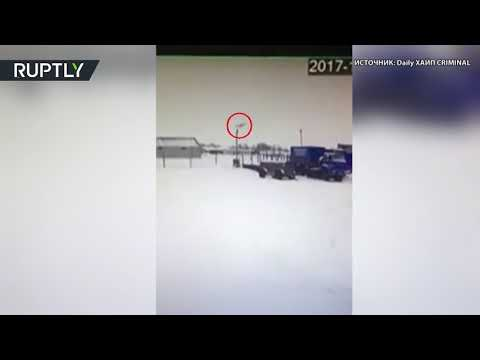 Момент падения самолёта в НАО
