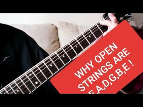 why guitar open strings are named e b g d a e or e a d g b e from the 6th thickest string. Black Bedroom Furniture Sets. Home Design Ideas