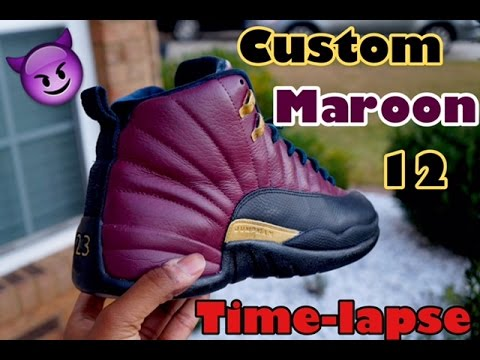 differently 24a9a 9d110 Custom Jordan Retro 12 Maroon | Time-Lapse