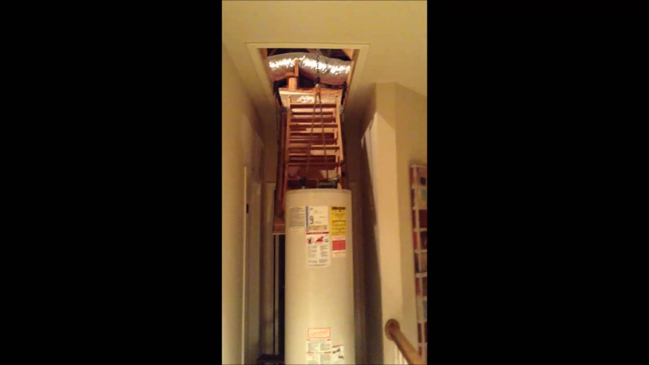 Bringing Down A Water Heater From The Attic Youtube