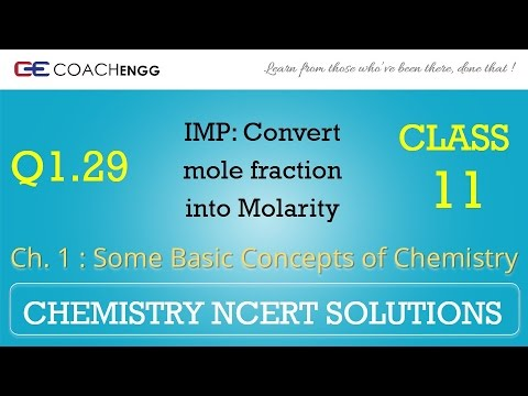 Some Basic Concepts of Chemistry Q1 29 Chapter 1 NCERT solutions CHEMISTRY  Class 11