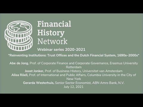 Financial History Network. Joost Jonker seminar