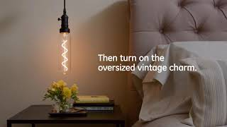 GE How to: Add Vintage Charm in Seconds with Oversized Vintage Style LEDs -- Bedroom
