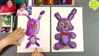 How to draw Plush Bonnie FNAF