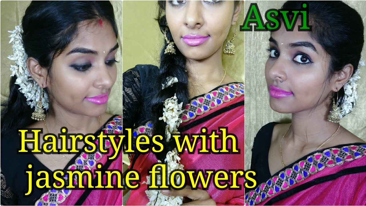 Hairstyles with jasmine flowers 3 simple easy wedding guest hairstyles with jasmine flowers 3 simple easy wedding guest hairstylesgajra hairstylesfestive izmirmasajfo
