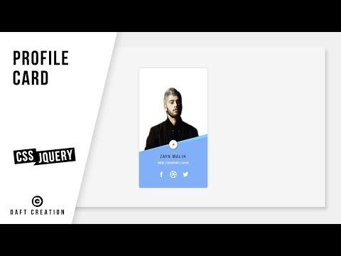 Profile Card   CSS - JQUERY Tutorial  2019 thumbnail