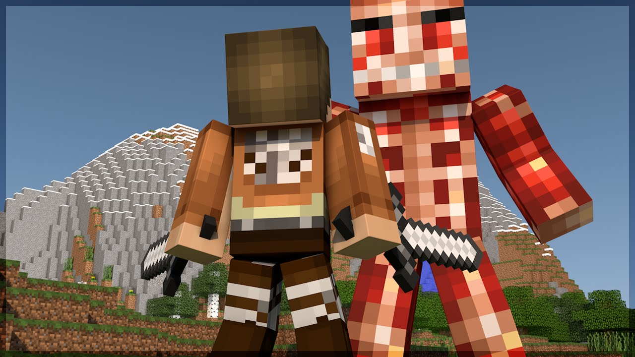 Minecraft: ATTACK ON TITAN! (BUILD BATTLE) - YouTube