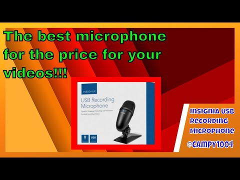 Insignia USB Microphone Review. The best price for the value?