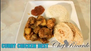 Chicken Curry Served With Coconut Rice  The Best Way To Cooking Jamaica Curry Chicken Recipes