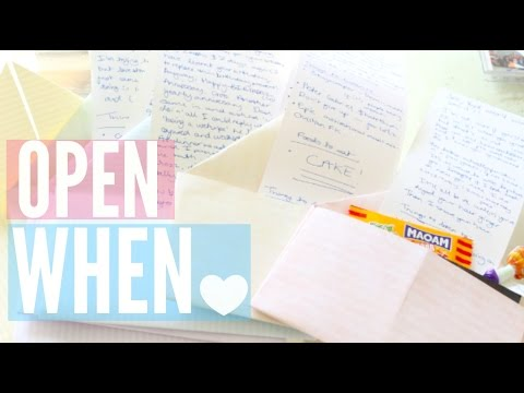DIY Open When Letters!!