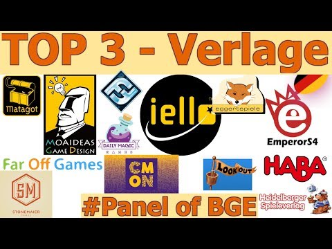 #Panel of Board Game Experts - Die TOP 3 Verlage / Publisher