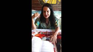 Katja Bastos e o livro Tarot Cigano da Trybo Cósmica 12/07/18.
