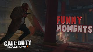 Black Ops 2 Zombies Funny Moments - Falling Off Map, The Abyss, Elevator Trap!