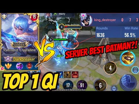 TOP 1 QI DESTROYING TOXIC BATMAN - How is he Servers Best Batman?   AoV   RoV   Liên Quân Mobile