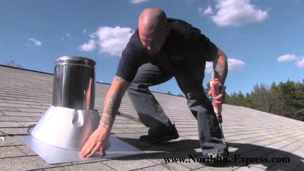 Duravent Chimney Pipe How To Install A Duravent Chimney Roof Flashing Youtube