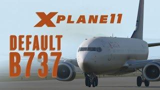X Plane 11 Beta - Default 737 Flight (Cold/Dark)
