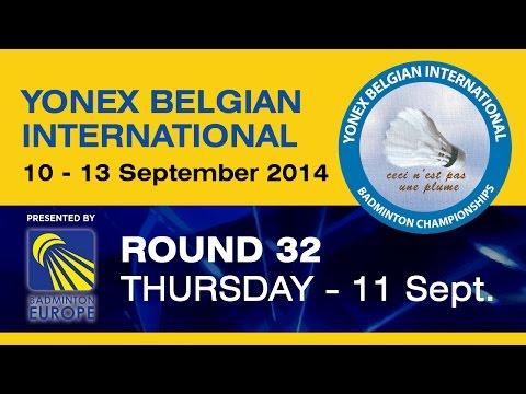 R32 - WS - Mia Blichfeldt vs Nanna Vainio - 2014 Yonex   Belgian International