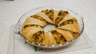 Curried Cauliflower & Peas Brunch Ring Pie Video Recipe - Indian Gourmet Recipe By Bhavna