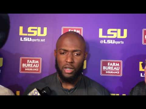 Leonard Fornette talks about his LSU rushing record.