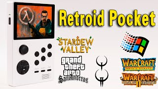 Retroid Pocket - PC/Android Gaming Test (Half Life/GTA/Quake/Warcraft/Win95)