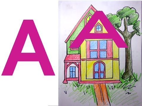 how to draw a beautiful house
