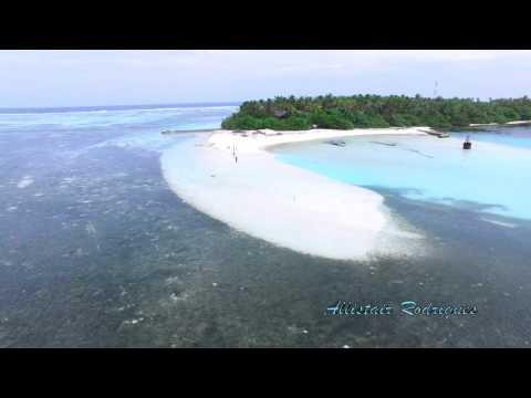 Maldives Huraa, Local Island by drone -4K